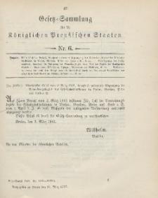 Gesetz-Sammlung für die Königlichen Preussischen Staaten, 24. März 1903, nr. 6.