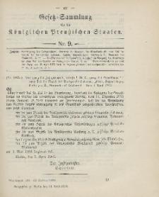 Gesetz-Sammlung für die Königlichen Preussischen Staaten, 11. April 1903, nr. 9.