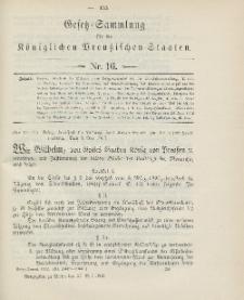 Gesetz-Sammlung für die Königlichen Preussischen Staaten, 27. Mai 1903, nr. 16.