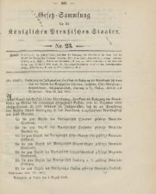 Gesetz-Sammlung für die Königlichen Preussischen Staaten, 5. August 1903, nr. 23.