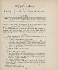Gesetz-Sammlung für die Königlichen Preussischen Staaten, 6. Juli 1906, nr. 30.