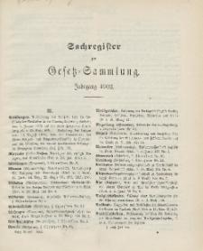 Gesetz-Sammlung für die Königlichen Preussischen Staaten (Sachregister), 1903