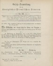 Gesetz-Sammlung für die Königlichen Preussischen Staaten, 18. Juli 1906, nr. 33.
