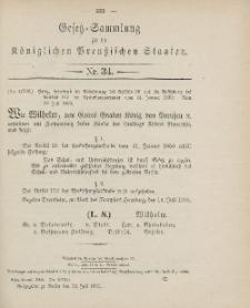 Gesetz-Sammlung für die Königlichen Preussischen Staaten, 23. Juli 1906, nr. 34.