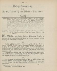 Gesetz-Sammlung für die Königlichen Preussischen Staaten, 13. August 1906, nr. 36.