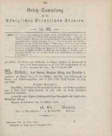 Gesetz-Sammlung für die Königlichen Preussischen Staaten, 20. November 1906, nr. 42.