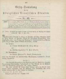 Gesetz-Sammlung für die Königlichen Preussischen Staaten, 5. Dezember 1906, nr. 43.