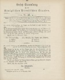 Gesetz-Sammlung für die Königlichen Preussischen Staaten, 30. November 1906, nr. 44.