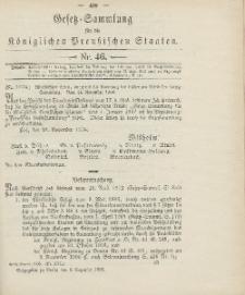 Gesetz-Sammlung für die Königlichen Preussischen Staaten, 8. Dezember 1906, nr. 46.