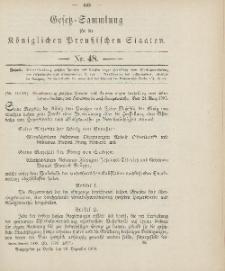Gesetz-Sammlung für die Königlichen Preussischen Staaten, 29. Dezember 1906, nr. 48.