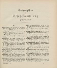 Gesetz-Sammlung für die Königlichen Preussischen Staaten (Sachregister), 1906