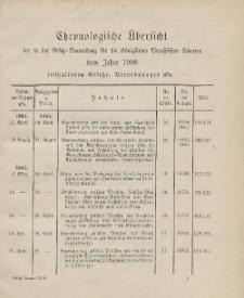 Gesetz-Sammlung für die Königlichen Preussischen Staaten (Chronologische Uebersicht), 1906