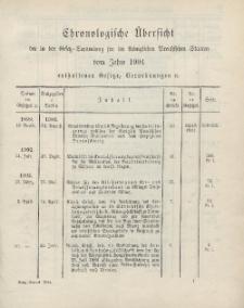 Gesetz-Sammlung für die Königlichen Preussischen Staaten (Chronologische Uebersicht), 1904