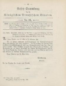 Gesetz-Sammlung für die Königlichen Preussischen Staaten, 27. Mai 1904, nr. 11.