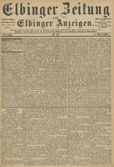 Elbinger Zeitung und Elbinger Anzeigen, Nr. 101 Sonntag 1. Mai 1887