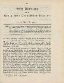 Gesetz-Sammlung für die Königlichen Preussischen Staaten, 8. Juli 1904, nr. 19.
