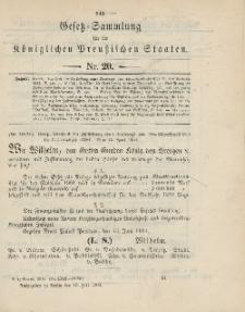 Gesetz-Sammlung für die Königlichen Preussischen Staaten, 19. Juli 1904, nr. 20.