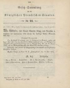 Gesetz-Sammlung für die Königlichen Preussischen Staaten, 27. Juli 1904, nr. 22.