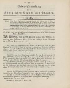 Gesetz-Sammlung für die Königlichen Preussischen Staaten, 26. August 1904, nr. 30.