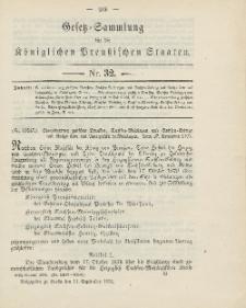 Gesetz-Sammlung für die Königlichen Preussischen Staaten, 14. September 1904, nr. 32.