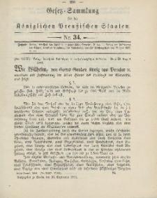 Gesetz-Sammlung für die Königlichen Preussischen Staaten, 26. September 1904, nr. 34.