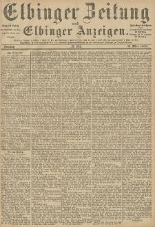 Elbinger Zeitung und Elbinger Anzeigen, Nr. 104 Freitag 6. Mai 1887