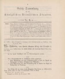 Gesetz-Sammlung für die Königlichen Preussischen Staaten, 24. Januar 1905, nr. 2.
