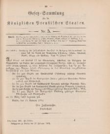 Gesetz-Sammlung für die Königlichen Preussischen Staaten, 27. Februar 1905, nr. 5.