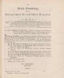 Gesetz-Sammlung für die Königlichen Preussischen Staaten, 22. März 1905, nr. 7.