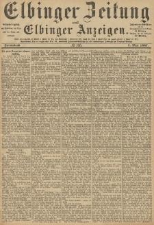 Elbinger Zeitung und Elbinger Anzeigen, Nr. 105 Sonnabend 7. Mai 1887