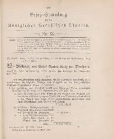 Gesetz-Sammlung für die Königlichen Preussischen Staaten, 11. April 1905, nr. 13.