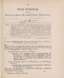 Gesetz-Sammlung für die Königlichen Preussischen Staaten, 9. Mai 1905, nr. 16.