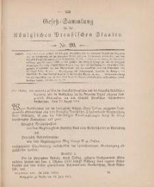 Gesetz-Sammlung für die Königlichen Preussischen Staaten, 14. Juni 1905, nr. 20.