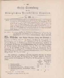 Gesetz-Sammlung für die Königlichen Preussischen Staaten, 22. Juli 1905, nr. 26.