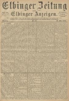 Elbinger Zeitung und Elbinger Anzeigen, Nr. 107 Dienstag 10. Mai 1887