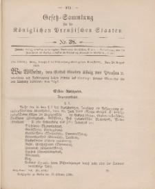 Gesetz-Sammlung für die Königlichen Preussischen Staaten, 13. Oktober 1905, nr. 38.