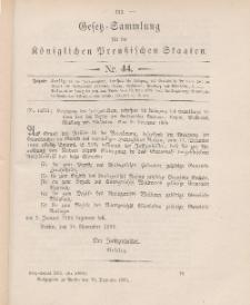 Gesetz-Sammlung für die Königlichen Preussischen Staaten, 13. Dezember 1905, nr. 44.