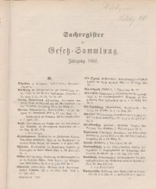 Gesetz-Sammlung für die Königlichen Preussischen Staaten (Sachregister), 1905
