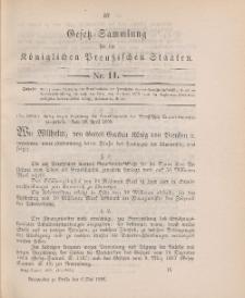 Gesetz-Sammlung für die Königlichen Preussischen Staaten, 6. Mai 1898, nr. 11.