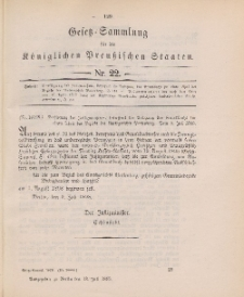 Gesetz-Sammlung für die Königlichen Preussischen Staaten, 13. Juli 1898, nr. 22.