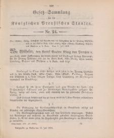 Gesetz-Sammlung für die Königlichen Preussischen Staaten, 19. Juli 1898, nr. 24.