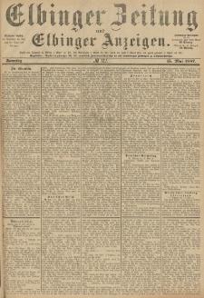Elbinger Zeitung und Elbinger Anzeigen, Nr. 112 Sonntag 15. Mai 1887