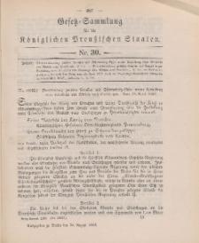 Gesetz-Sammlung für die Königlichen Preussischen Staaten, 24. August 1898, nr. 30.