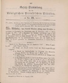 Gesetz-Sammlung für die Königlichen Preussischen Staaten, 10. Dezember 1898, nr. 39.