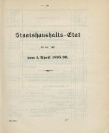 Gesetz-Sammlung für die Königlichen Preussischen Staaten, (Staatshaushalts-Etat für das Jahr von 1. April 1895/96)