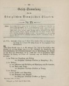 Gesetz-Sammlung für die Königlichen Preussischen Staaten, 25. April 1895, nr. 15.
