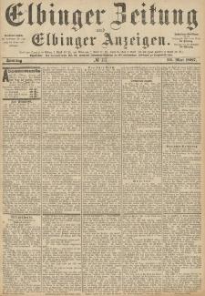 Elbinger Zeitung und Elbinger Anzeigen, Nr. 117 Sonntag 22. Mai 1887