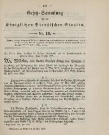 Gesetz-Sammlung für die Königlichen Preussischen Staaten, 28. Mai 1895, nr. 19.