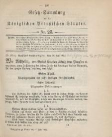 Gesetz-Sammlung für die Königlichen Preussischen Staaten, 11. Juli 1895, nr. 23.