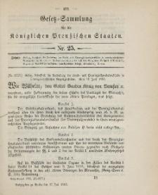 Gesetz-Sammlung für die Königlichen Preussischen Staaten, 17. Juli 1895, nr. 25.